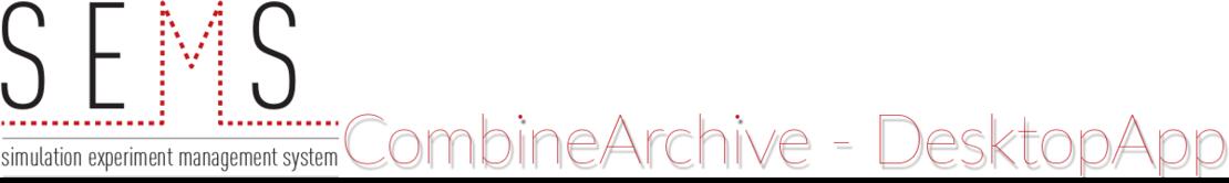 CombineArchive Toolkit: Desktop Application